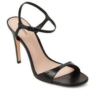 Schutz | Jade Black Leather Sandal Heels